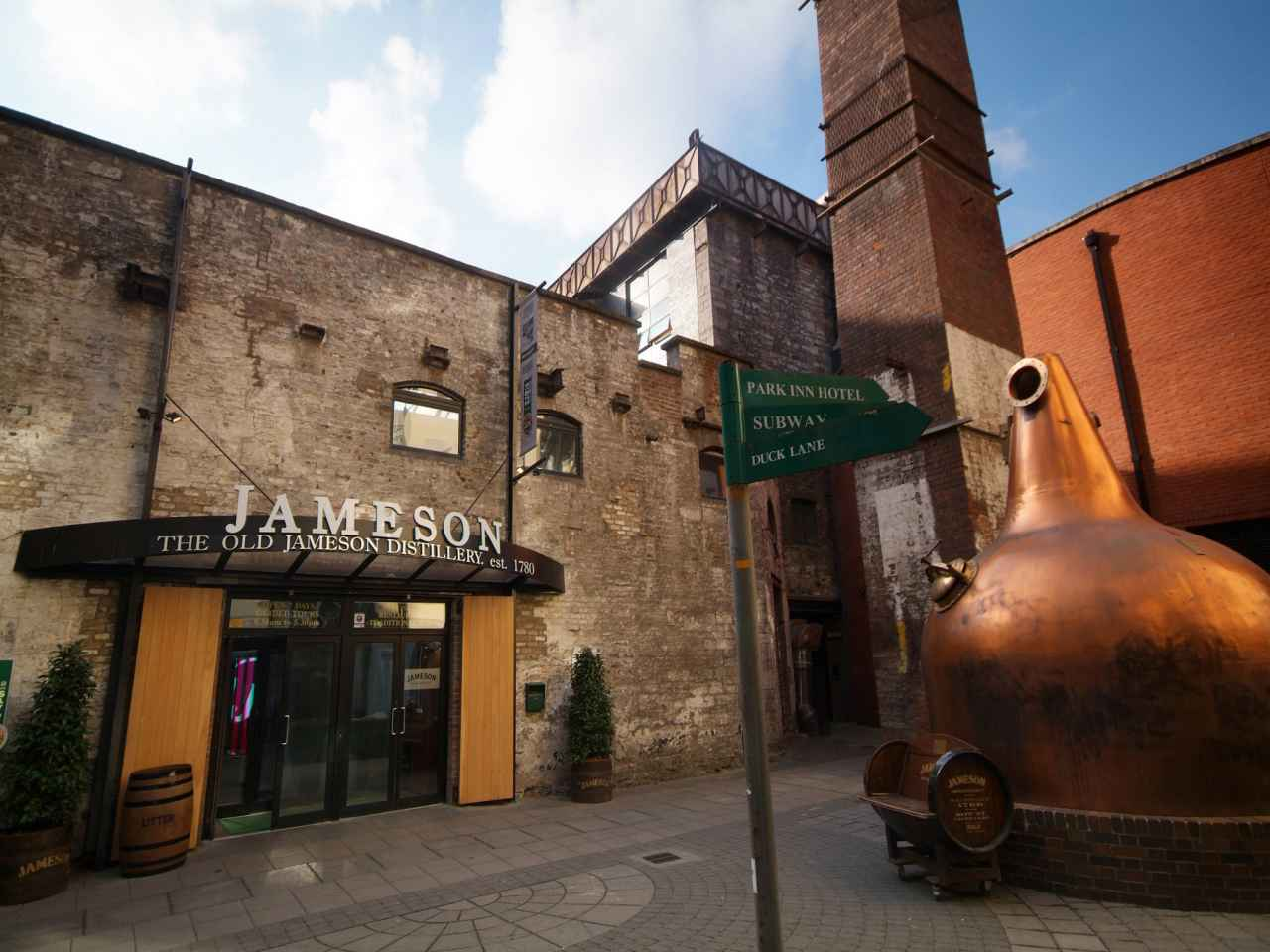 Old Jameson Distillery entrance and courtyard