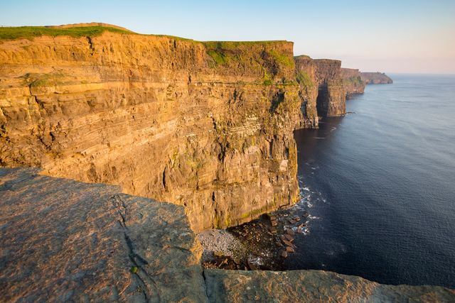 Cliffs of Moher near sunset