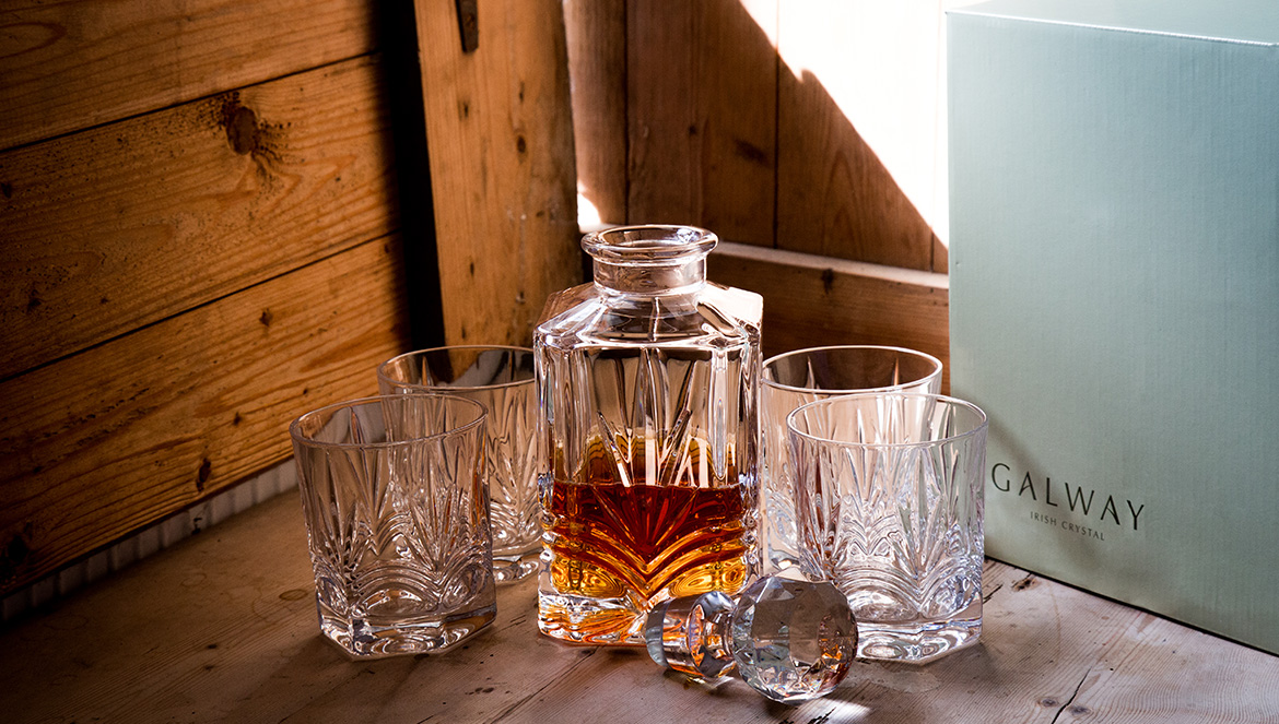 Galway Crystal Decanter Set