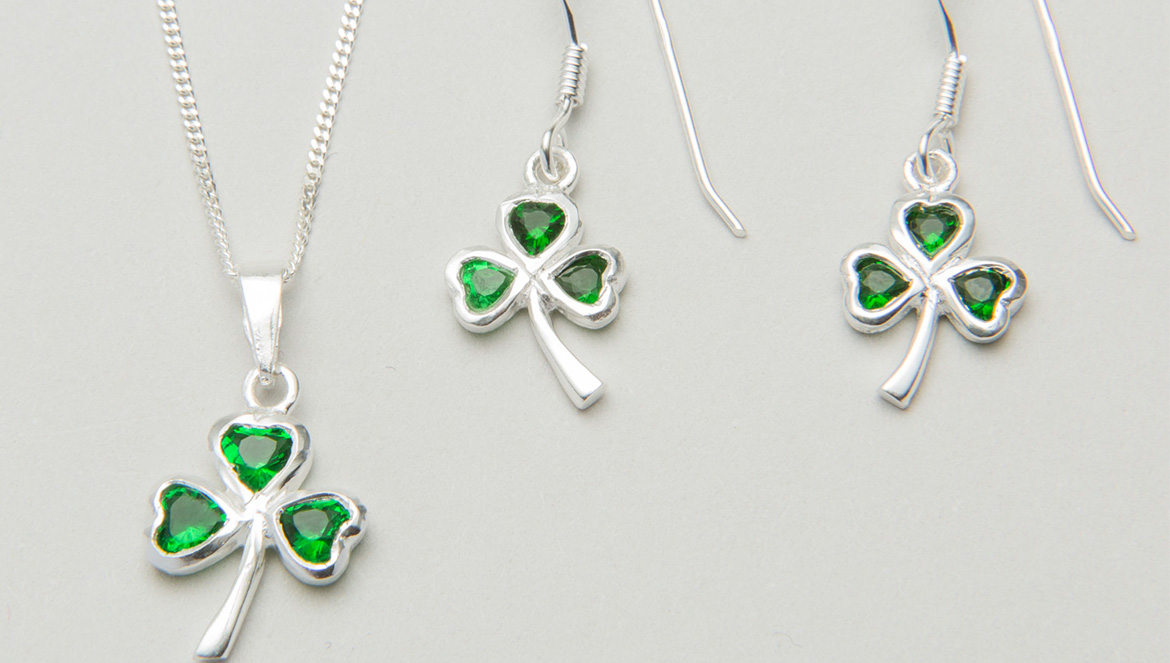Shamrock jewelry set
