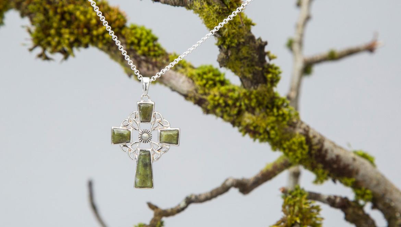 Connemara Marble Celtic Cross