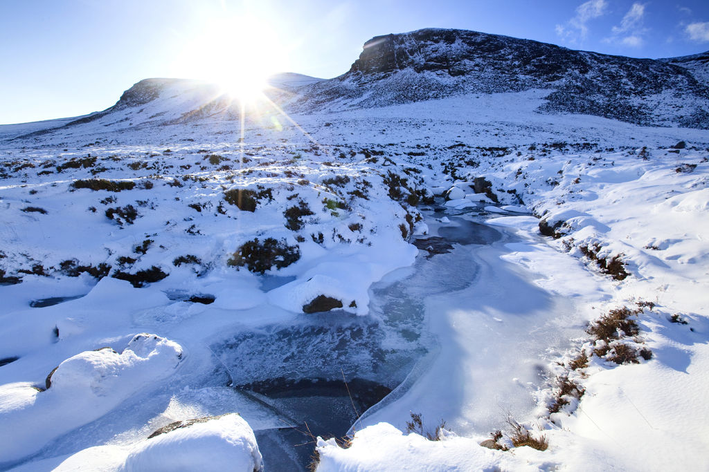 Snow covered Mournes