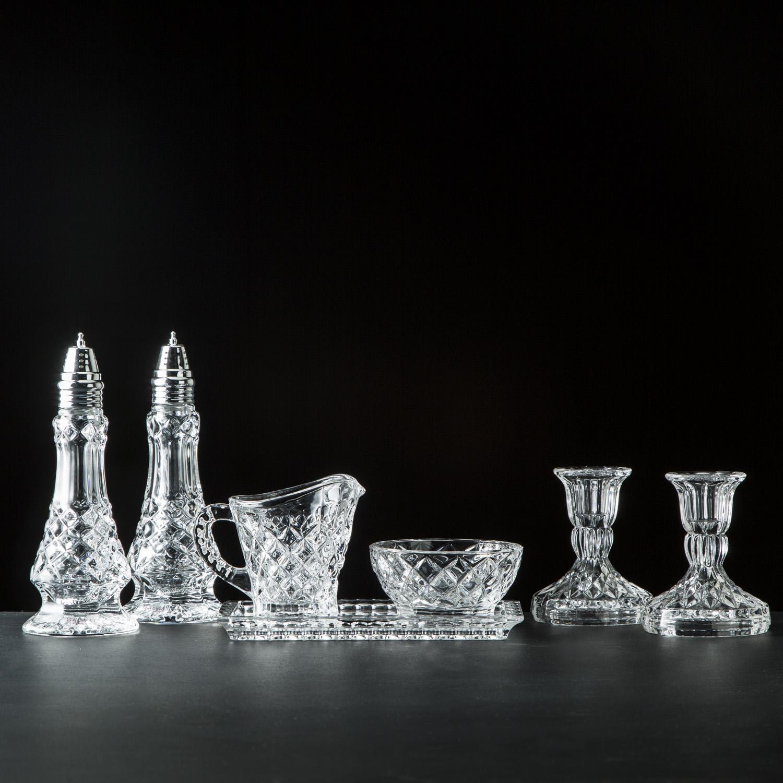 Ashford Crystal Table Set
