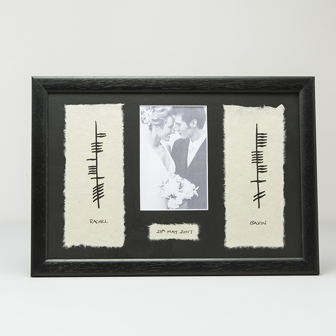 Ogham Wedding Plaque