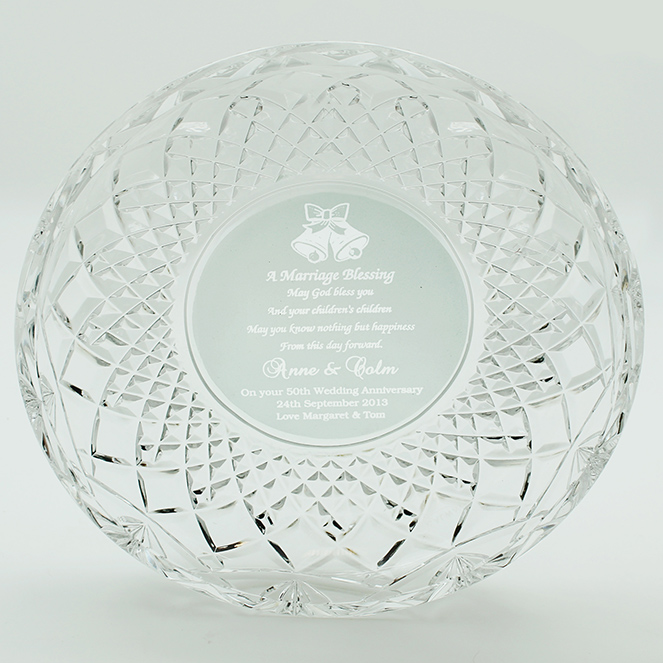 Crystal Wedding Blessing Plate