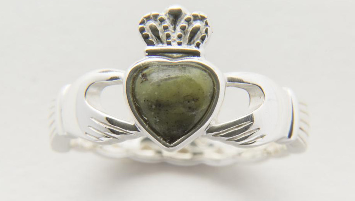 da4cb85ab Firstly, it's everyone's favorite Claddagh. The Claddagh is almost  certainly the most popular symbol in Irish jewelry. The story of the  Claddagh dates back ...