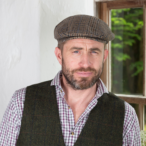 Mens Wool Flat Cap