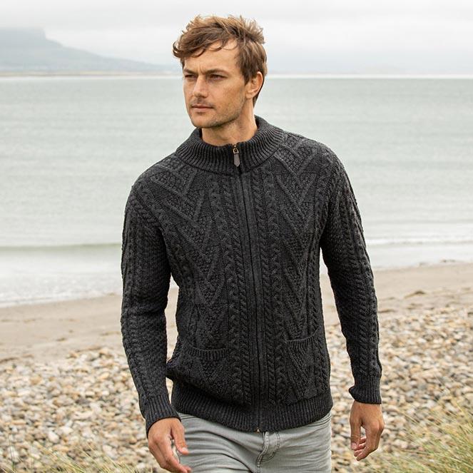 Lough Dan Aran Cardigan fall winter collection