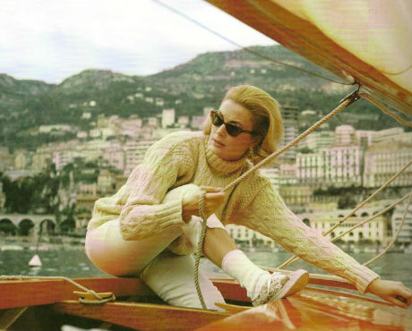 Grace Kelly-Aran sweater
