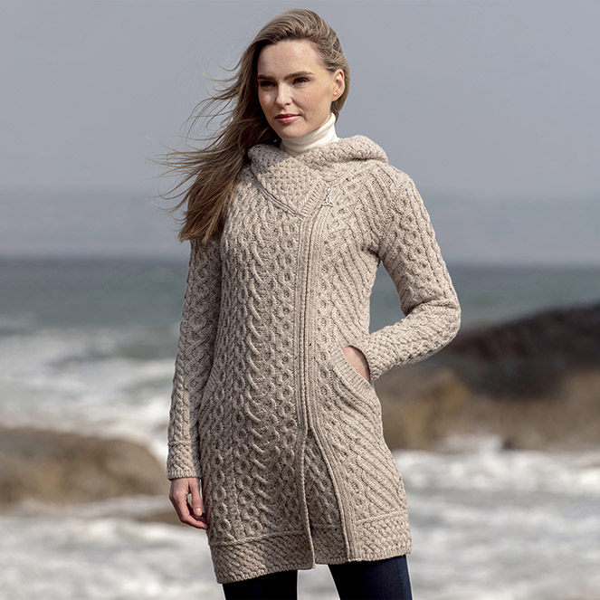 Claddagh Aran Cardigan New Season