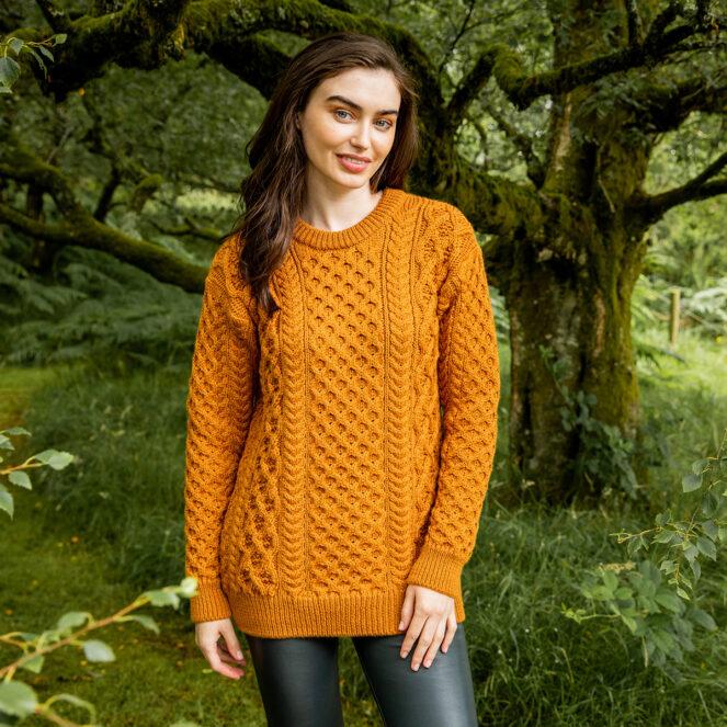Blasket Honeycomb Stitch Aran Sweater