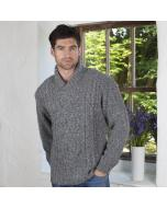 Aran Shawl Collar Sweater
