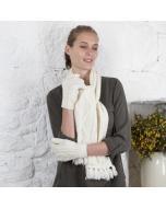 Hand Knit Aran Gloves