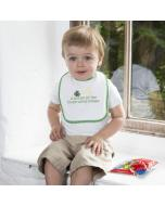 Bottle of the House White Baby Bib