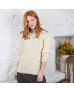 Ladies Lambay Aran Sweater