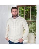 Classic Crew Neck Aran Sweater