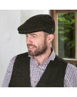 Green Irish Wool Trinity Flat Cap