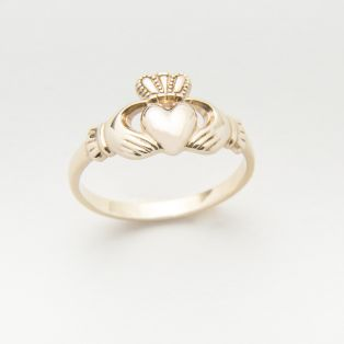 10 Carat Gold Maids Claddagh Ring