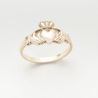10 Carat Gold Maids Claddagh Ring