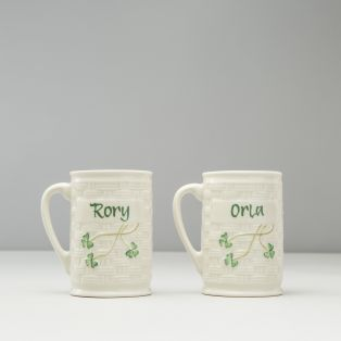Belleek Set of 2 Personalized Name Mugs