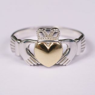 10K Gold Heart Claddagh Ring