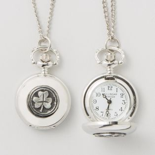 Mullingar Pewter Shamrock Pendant Watch
