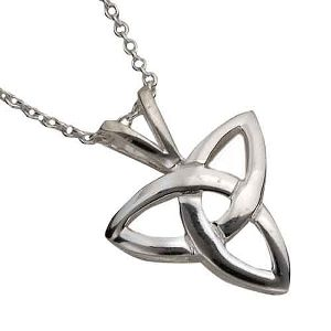 Large Silver Trinity Knot Pendant