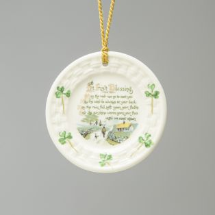 Belleek Irish Blessing Hanging Ornament