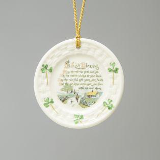 Belleek Irish Blessing Hanging Ornament