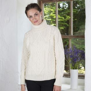 Celtic Aran Turtle Neck Sweater