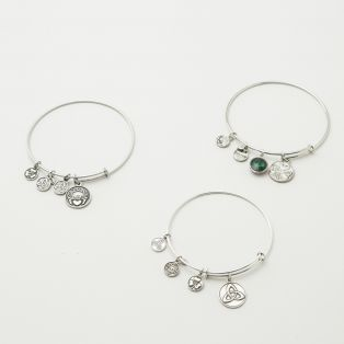 Claddagh Charm Bangle Set of 3