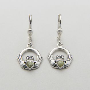 Claddagh Marble Drop Earrings