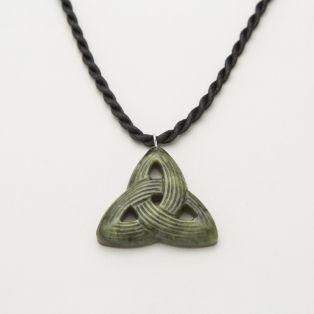 Connemara Marble Carved Trinity Knot Pendant