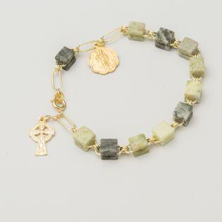Connemara Marble Rosary Bracelet