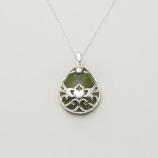 Connemara Marble Sterling Silver Basket Pendant