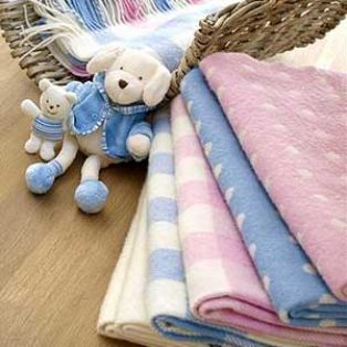 Foxford Spot Baby Girl Blanket