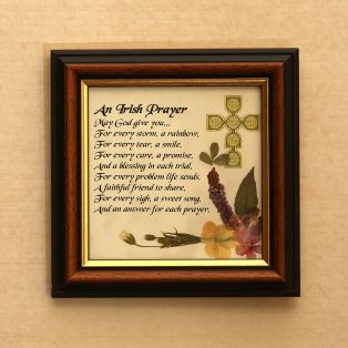 Framed Irish Prayer Wild Flower Gift