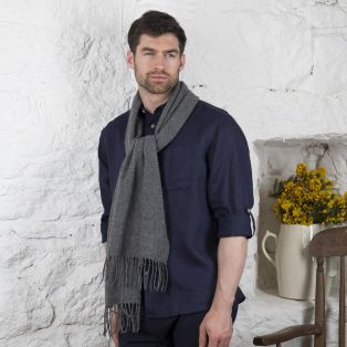 GRAY Foxford Pinstripe Lambswool Scarf
