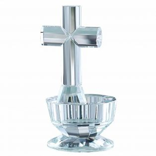 Galway Crystal Celtic Irish Cross Votive Candle