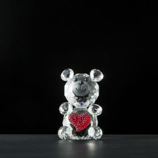 Galway Crystal Love Bear Figurine