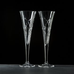 Galway Crystal Mystique Romance Flutes