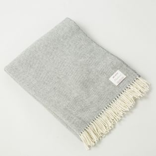 Gray Lambswool Irish Blanket