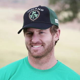Green & Black Shamrock Ireland Baseball Cap