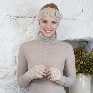 Handknitted Merino Fingerless Gloves