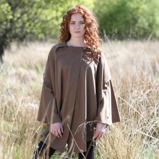 Hourihan Ladies Single Faced Cape Camel
