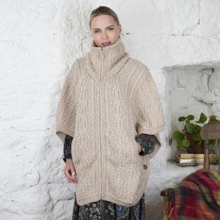 Irish Aran Batwing Jacket