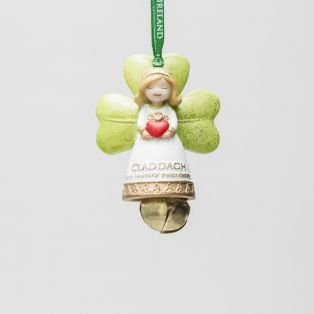 Irish Claddagh Angel Decoration With Bell