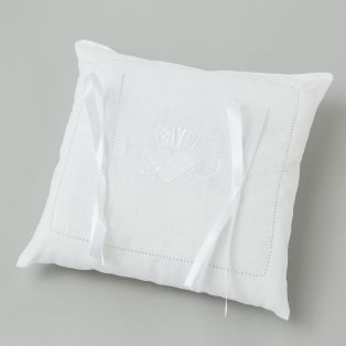 Irish Linen Claddagh Wedding Pillow
