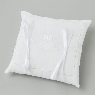 Irish Linen Claddagh Wedding Pillow