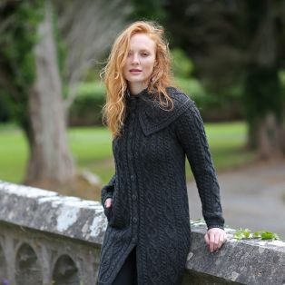 Irish Merino Cape Collar Coat